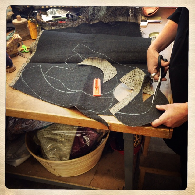 Altalen designers craft hand made hats in their atelier.