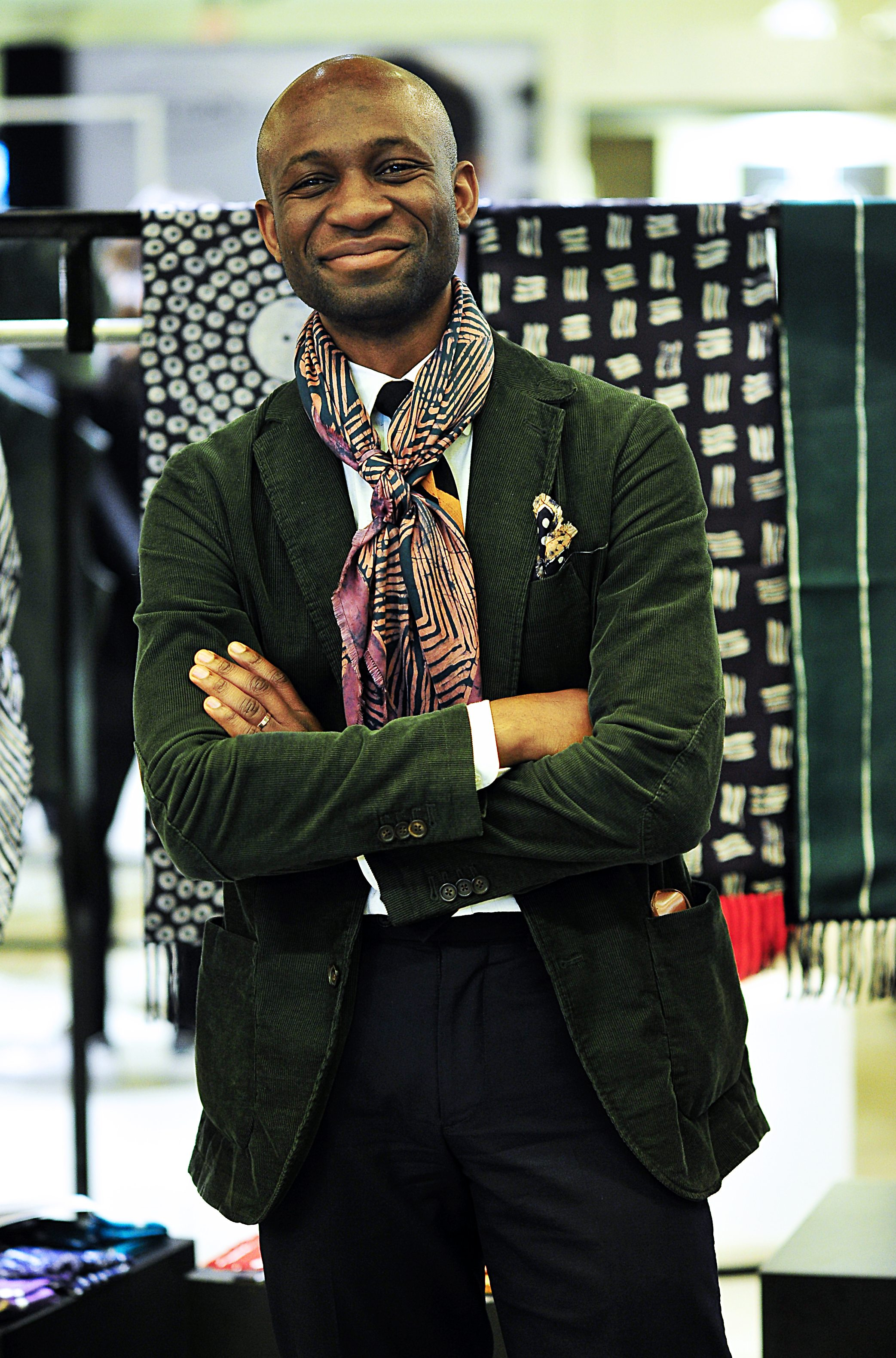 Post Imperial's designer, Nigerian-born, New York-based Niyi Okuboyejo<br /> Photo by Silio Danti