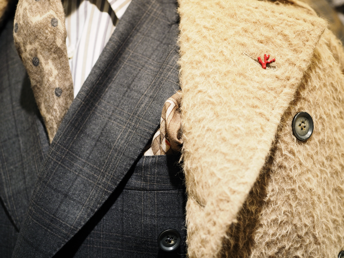 Isaia long-haired coat and suit<br /> Photo by Salvo Sportato