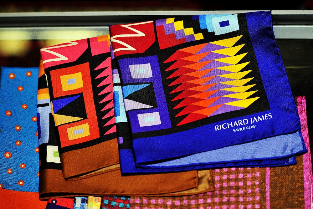 Richard James scarves<br /> Photo by Silio Danti