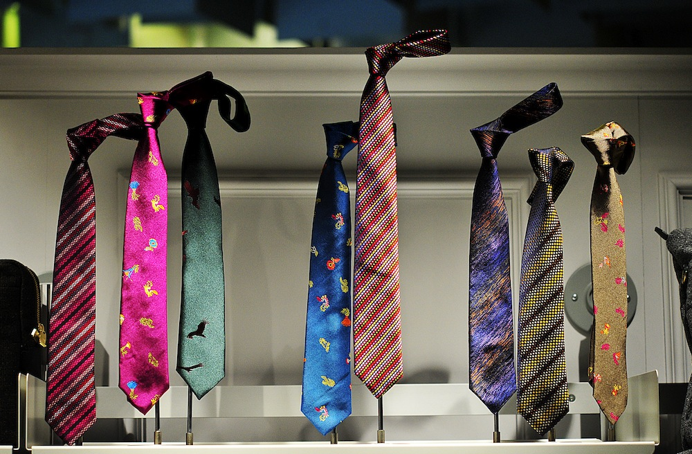 Richard James ties <br /> Photo by Silio Danti