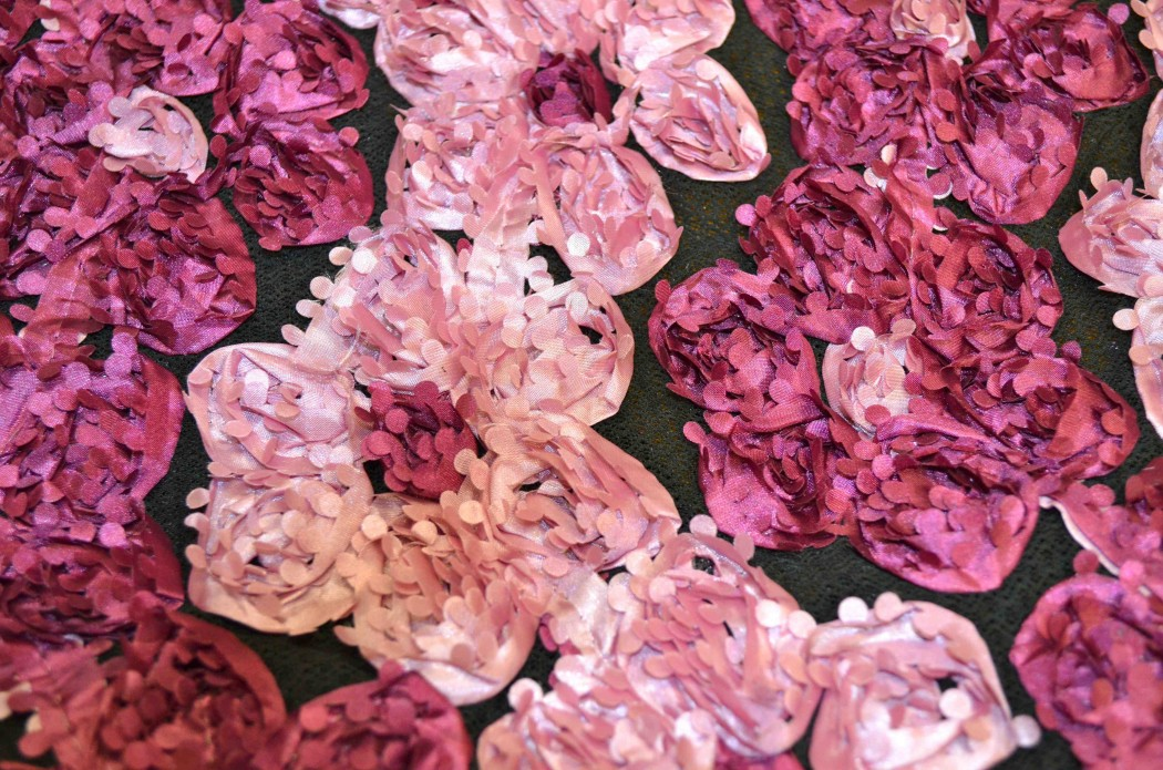Peony accented fabrics for the spring season at Atelier Bergnach