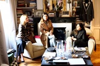 Blaze' founders Corrada Rodriguez D'Acri, Delfina Pinardi and Sole Torlonia a their fall winter 2015/16 presentation in Milan