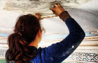 Corrada restores her family's home, once lived in by her great great grandfather, by hand.