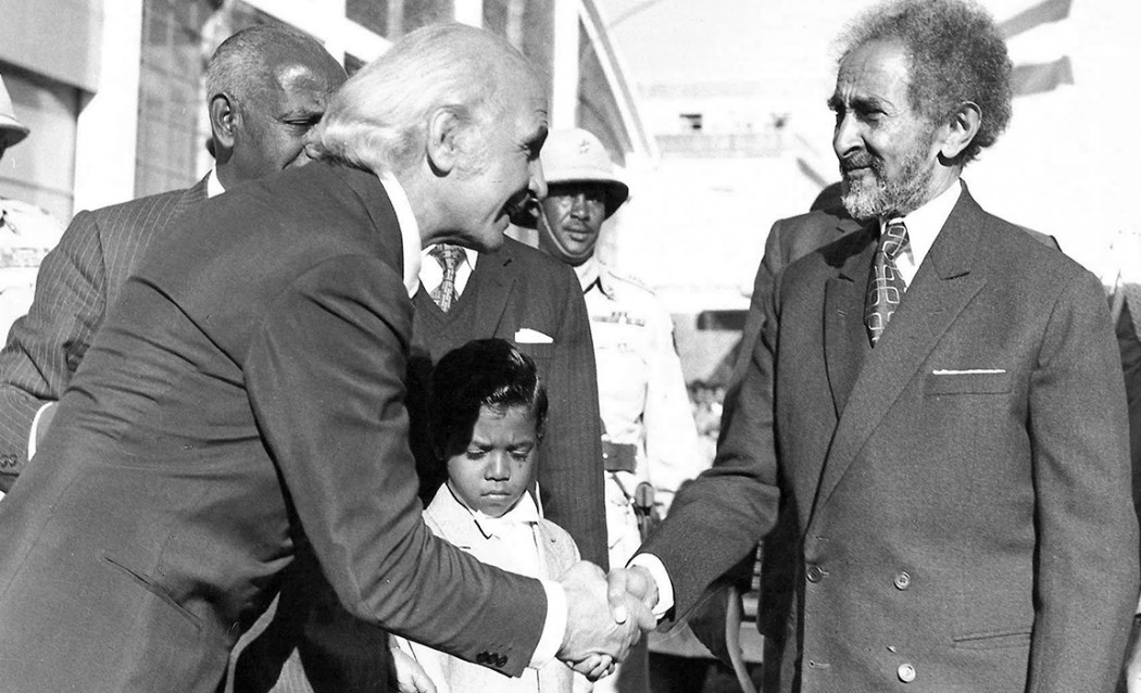 Luca Gnecchi Ruscone's grandfather Raffaello Bini meets Ethiopian Regent Haile Selassie also known as Ras Tafari