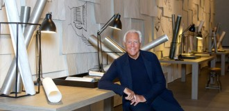 Giorgio Armani among designs of his Armani Casa collection