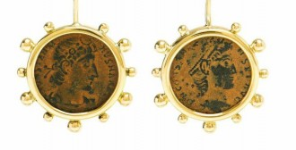 Designer Benedetta Dubini uses ancient Roman and Greek coins in her jewelry designs