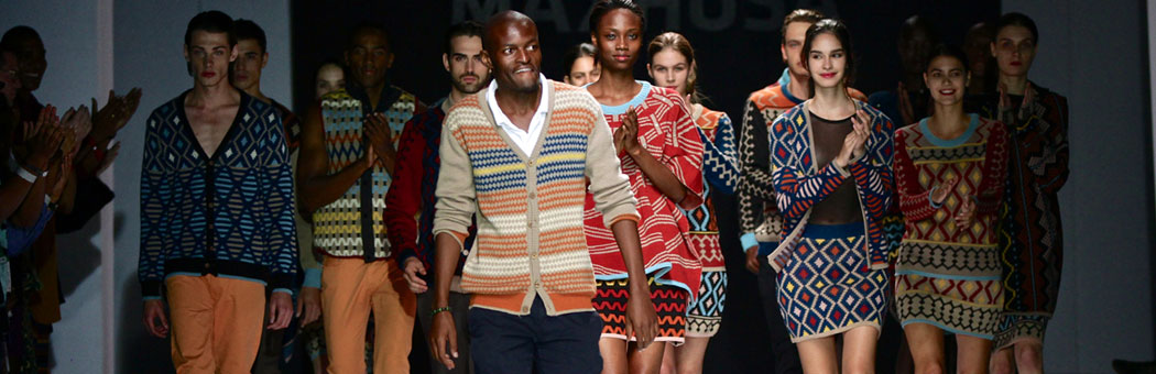 Laduma Ngxokolo of MaXhosa on the runway. (Courtesy Photo)r
