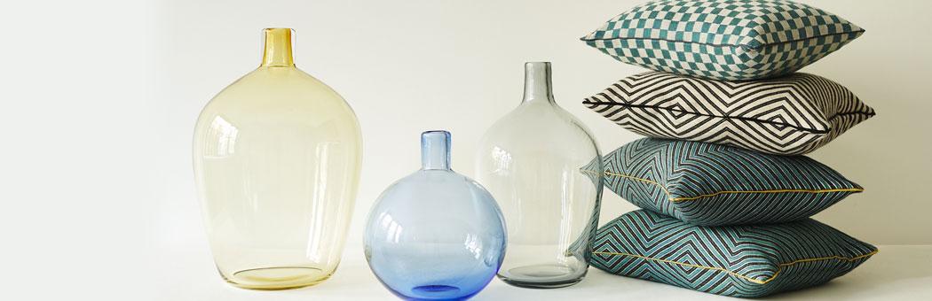 Chiarastella Cattana glass ware and jacquard fabrics. Courtesy Photo