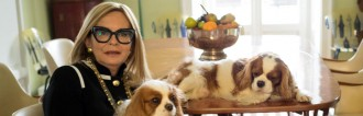Rossella Jardini at home with her pups Jolie and Charlie. Photo by Salvo Sportato.