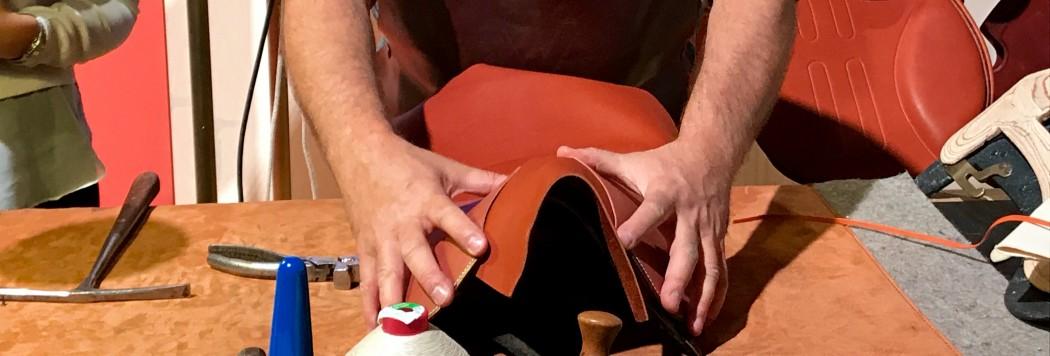 Hermès saddle making