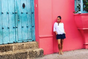 BACO's Editor in Chief in Old Town Cartagena. Photo Credit: Florence Celeste